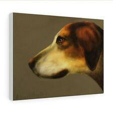 More details for foxhound : canvas print / poster : painting by david andrews :  fox dog art
