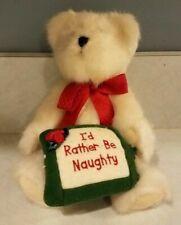Boyds Bears Collection Lto 1988 Vintage Ltd Edition 8.5� Plush Christmas Bear