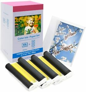 KP-108IN 108 Sheets Paper+3 Ink Cartridge Canon CP1200 CP1000 CP910 CP1300 CP800