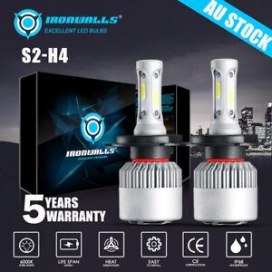 H4 9003 2000W 300000LM LED Headlight kit Lamp Bulbs Globes High Low Beam Upgrade