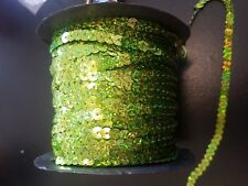 SEQ sur String Sequin 5 mm Hologramme Lime Green Sequin Couture Bordure Garniture