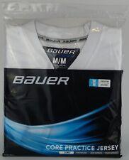 Bauer Core Practice Hockey Jersey, Youth Medium, White Brand New