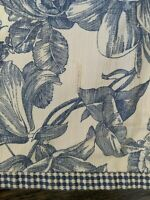 "Waverly Garden Room Valance Toile Blue White Heirloom Collection  70"" x 17"""