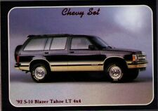 1992 Collect-A-Card Chevy Set # 96 1992 S-10 Blazer Tahoe LT 4x4