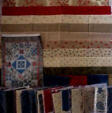 """Wiscasset Fabric Quilt Kit Block Of The Month Finished Size 84""""x 108"""" OOP"""