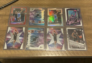 2020-21 Optic JAMES HARDEN Lot Of 8 With Red /99 SSP Raining 3s Prizm Nets