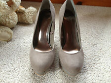 F & F Taupe Mink Faux Suede Court Shoes - Size 5 Used fantastic Condition