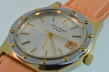 Vintage Patek Philippe Geneve Men's Wristwatch with New Leather Band