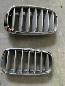 BMW 2014-18 F15 X5 2015+ F16 X6 OEM Genuine Pure Excellence Chrome Front Grille