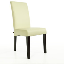 Lederstuhl Bambi Leder Creme Weiß Stuhlbeine Wenge Lederstühle Stuhl Stühle TOP