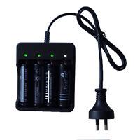 3.7V Li-Ion Rechargeable 18650 Battery AC Travel Charger AU Plug  4 Slot