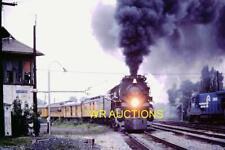 ORIG.1981 C&O RAILROAD 4-8-4 #614 CHESSIE STEAM SPECIAL PORTER,IN COLOR SLIDE