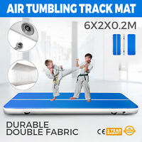 20x6FT Air Track Floor Home Gymnastics Tumbling Yoga Mat Inflatable Airtrack GYM