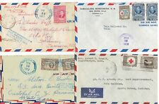 MIXED LOT OF FOUR 1950's HONDURAS AIRMAIL COVERS - BACKSTAMPED