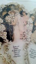 Old Print Factory Gifts of Victorian Elegance Greeting Wedding Fan037 new sealed