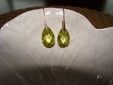 """Green Swarovsky crystal earrings in .925 Sterling Silver 1"""""""