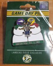 GREEN BAY PACKERS vs MINNESOTA VIKINGS 12/23/2017 NFL GAME DAY PIN