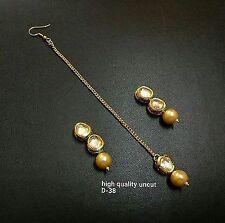 Indian Fashion Bollywood Women Gold Tone Mang Tikka kundan jewlery