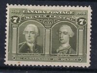 CANADA NO 100 WOLF & MONTCALM FROM 1908 QUEBEC ISSUE FVF MINT HR