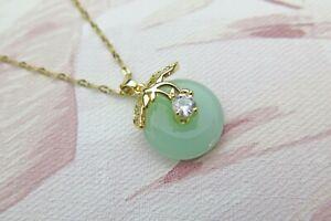 Lucky Jade Agogo Crystal Pendant Necklace