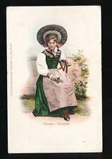 Switzerland Thurgau Thurgovie traditional dress fashion costume c1902 u/b PPC