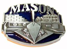 Masons Masonic Lodge Enamel Belt Buckle Square + Compasses to attach to own belt