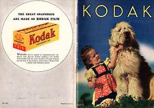 Eastman Kodak 1939 Booklet Cameras & Accessories Details Features Photos Prices