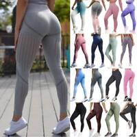 Seamless Women Yoga Pants High Waist Push Up Fitness Leggings Sports Gym Running