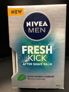 Nivea Men Fresh Kick After Shave Balm With Mint & Cactus Water 100ML NEW UK