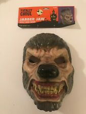 Brand New Totally Ghoul Jabber Jaw Wolf Man Mask