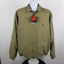 NWT VTG Nautica Mens 373 Taupe Bedford Full Zip Light Brown Coat Jacket Size XL