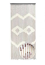 Türvorhang Holzperlenvorhang 90x200 31 Stränge Insektenschutz Zackenmuster