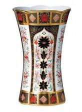"New Royal Crown Derby 1st Quality Old Imari Solid Gold Band 12"" Column Vase"