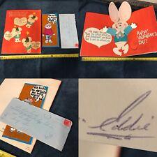 VTG Ed Westfall Boston Bruins Hockey Love Letters/Correspondence/Card Lot Signed