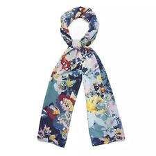 NEW!!Laura Ashley Floral 100% Silk Long Scarf Green Multi - slight second