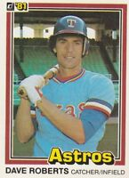 FREE SHIPPING-MINT-1981 DONRUSS #490 DAVE ROBERTS ASTROS