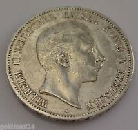 5 Mark Silbermünze Dt. Kaiserreich 1907 A - Wilhelm II. dt. Kaiser v. Preussen