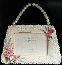 """Life's Impression 5""""X3.5"""" Inch Flowers With Scroll Work Picture Frame (Read)"""