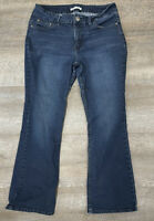 Womens Lee Riders Curvy Fit Skinny Denim Jeans Size 12P (31x28) Dark Wash