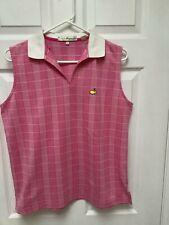 Magnolia Lane Masters Logo Women's Sleeveless Golf Shirt Multicolored Size L