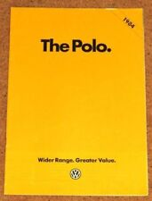 Polo Paper 1985 Car Sales Brochures