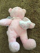"""Pink Baby Gund Angel Bear -11"""""""