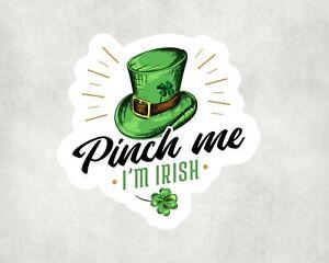 2 x St Patrick's Day I'm Irish Sticker Car Bike Seal Laptop Indoor Decals