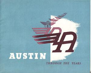 Austin 7 8 10 16 A30 40 60 70 Atlantic Mini Healey Publicity Book + Racing 705/I