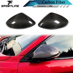 Carbon Außenspiegel Kappen Spiegel Schwarz Zubehör für Alfa Romeo Stelvio 17-19