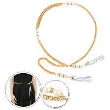 Girls Gold Waist Chain Belt Pearl Charm Jewellery Accessory for Womens Fashions
