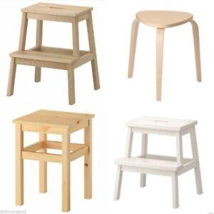 IKEA Hocker Tritthocker Stufenhocker Oddvar Frosta Bekväm Molger Holzhocker