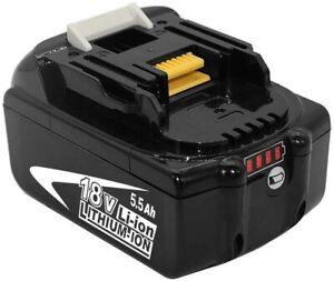 Batterie pour Makita 18V 5.5Ah chargeur Li-ion LED BL1860B BL1815 BL1840 BL1850