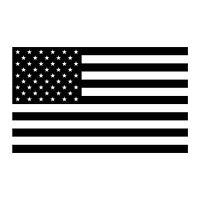 1 Color Flag Sticker - 1 Color American Flag Decal - Choose Color Size