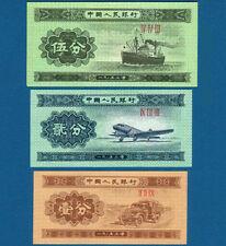 CHINA 1 , 2 , 5 Fen (1953)  UNC  P. 860,861,862